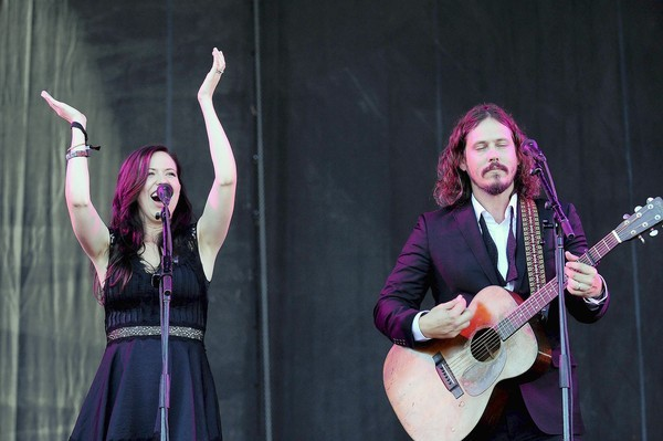 Joy Williams and John Paul White of The Civil Wars perform during the 2012 Austin City Limits Music Festival on October 14, 2012 in Austin, Texas.