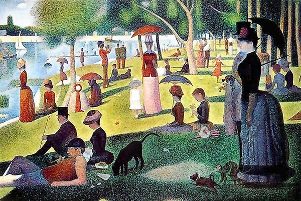 The play Sunday in the Park With George is inspired by  A Sunday Afternoon on the Island of La Grande Jatte,  a painting by Georges Seurat.