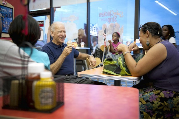 Vice President Joe Biden makes a campaign stop Oct. 19, 2012 at a Dairy Queen on International Drive in Orlando.