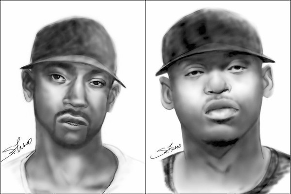 The Seminole County Sheriff's Office released sketches of two men suspected of breaking into an Altamonte Springs home and shooting a man to death late Wednesday.