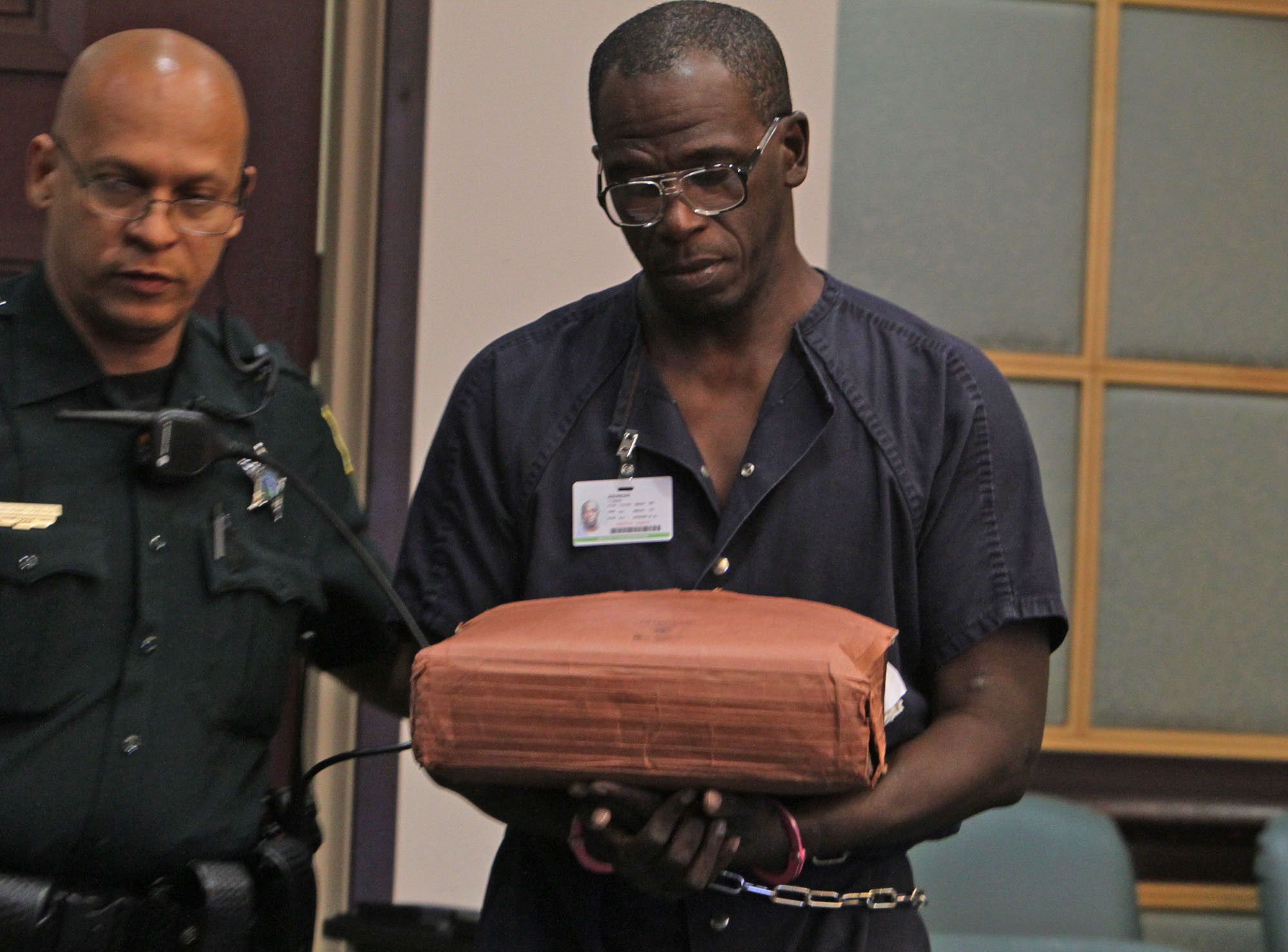 Rapist Tommie Lee Andrews, the first man convicted using DNA evidence, represents himself  during a civil commitment hearing.