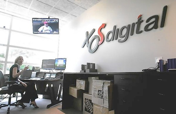 XOS Digital, which works with digital sports video, was one of only two Central Florida companies to receive venture capital in the third quarter of 2012. (XOS Digital&#039;s editing server center processes thousands of hours of sports highlights for college teams across the country. Digital content coordinator Becca Bowden demonstrates the system.)