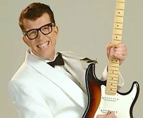 George Trullinger playing Buddy Holly.