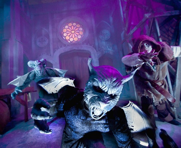 Universal's Halloween Horror Nights goes all out with gargoyles in the Gothic haunted house this year.