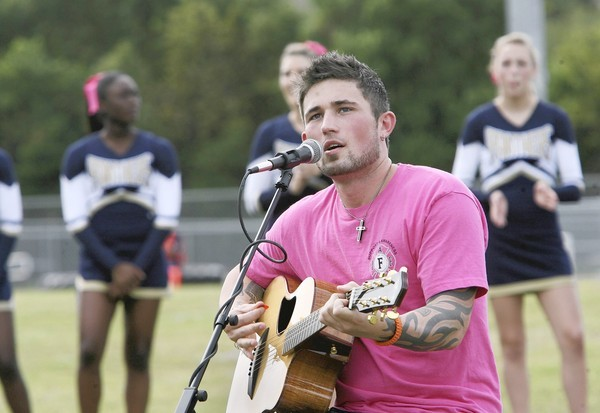 "Michael Ray of Eustis, who recently won the nationally televised show reality show ""The Next"" on the CW network, performed  at the Eustis High School pep rally on Thursday, October 25, 2012. (Tom Benitez/Orlando Sentinel)"