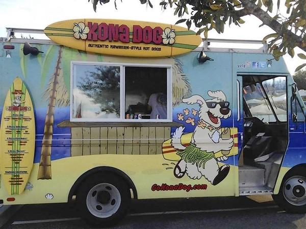 Follow the Kona Dog food truck on Facebook.