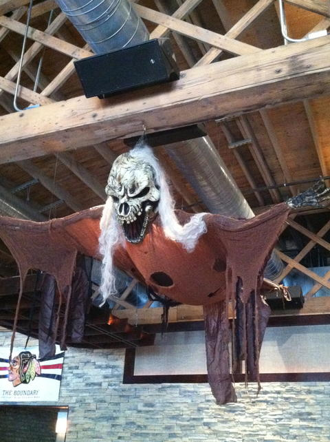 Halloween decor at Kit Kat Lounge & Supper Club, 3700 N. Halsted St.