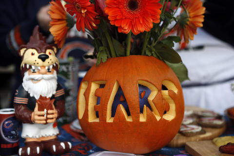 Chicago Bears fans have a Halloween-themed tailgate Sunday at Soldier Field.