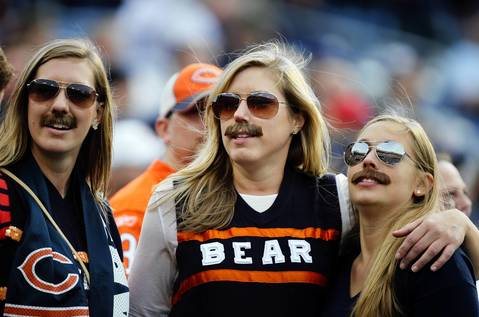 Bears fans enjoy the fourth quarter.