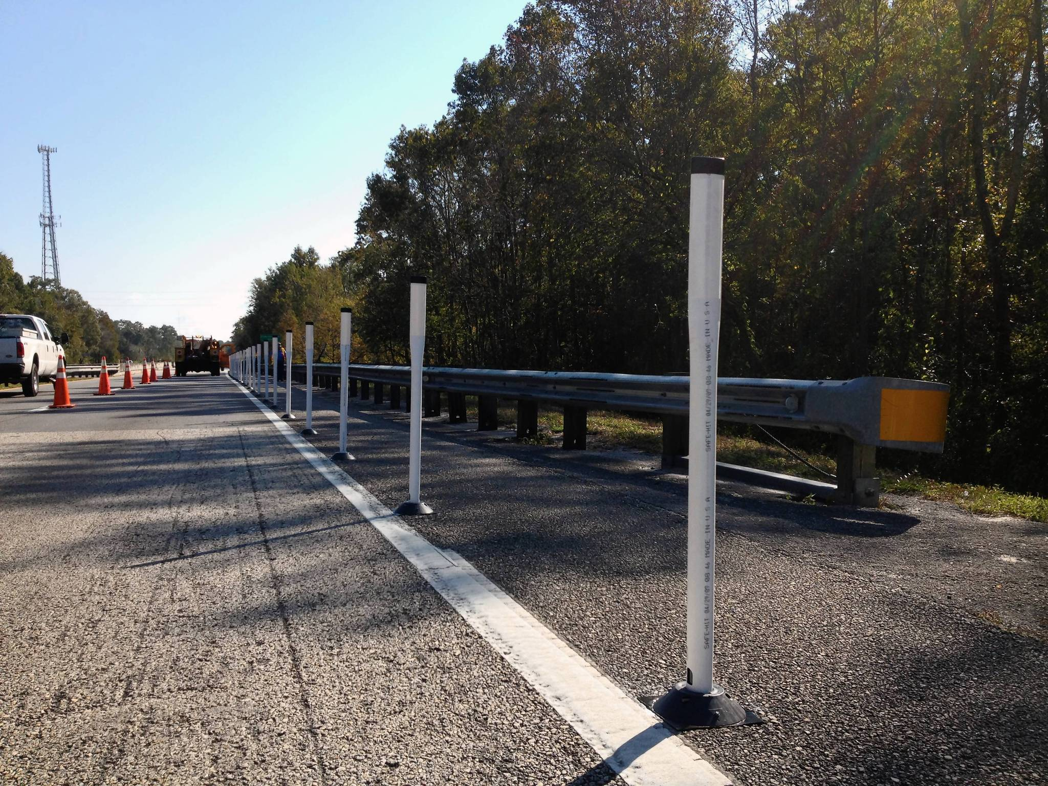 The state installed dividers on State Road 50 earlier this week designed to separate pedestrians from the fast-moving traffic on the bridge that crosses the Econlockhatchee River.