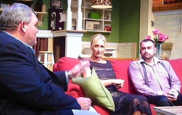 """From left, James Simpson, Sarah Lee Dobbs and Stephen Lima in """"God of Carnage."""""""