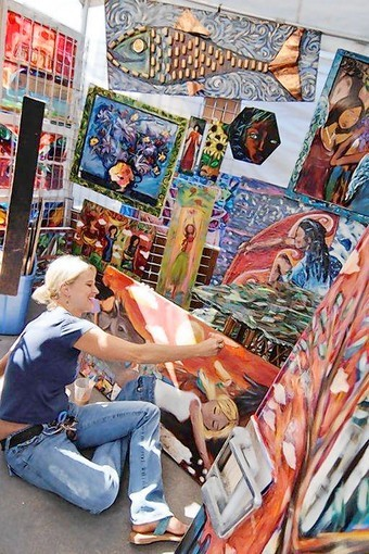 Brilliant artwork brightens Downtown Disney during Festival of the Masters. The festival features artistic creations from more than 150 artists, live entertainment, childrens activities and culinary treats.