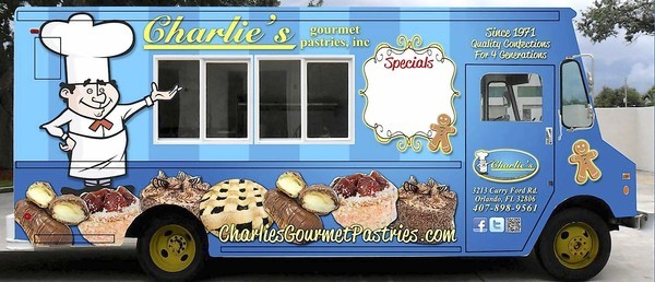 Follow the progress of a new food truck by Charlie's Gourmet Pastries on Facebook.