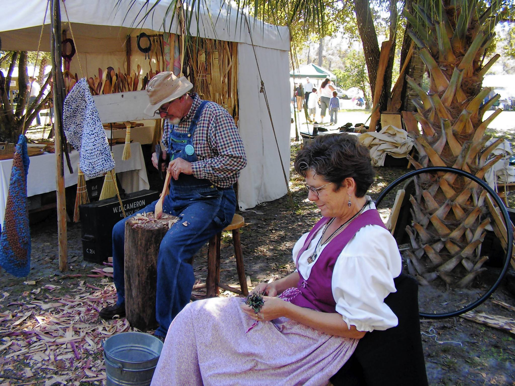 Folk art and crafts are part of the annual Cracker Christmas event at Fort Christmas Historical Park in east Orange County. The 2012 edition is set for Dec. 1 and 2.