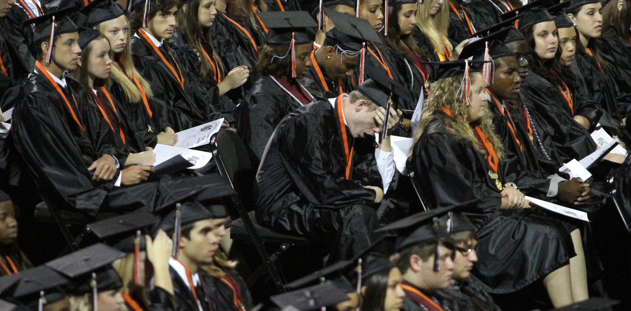 Seminole High School seniors during the Class of 2012 graduation ceremony, at the University of Central Florida Arena, Tuesday, May 29, 2012.