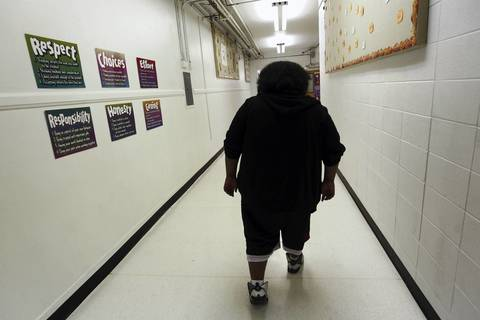 Alex Frausto, who had missed weeks of school, returns to class following a court order. Later diagnosed with anxiety disorder and depression, the 12-year-old is now receiving accommodations to help him cope in class.