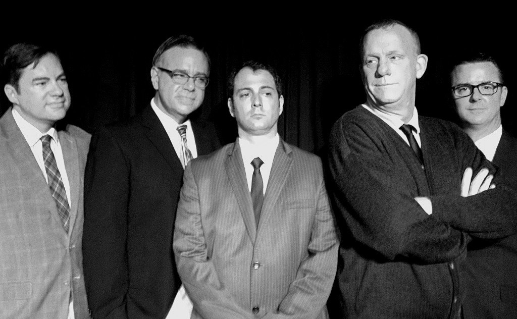 "Doa Farrentine (from left), Michael Colavolpe, Michael Marinaccio, Doug Ba'aser and Russell R. Trahan star in ""The Temperamentals."""