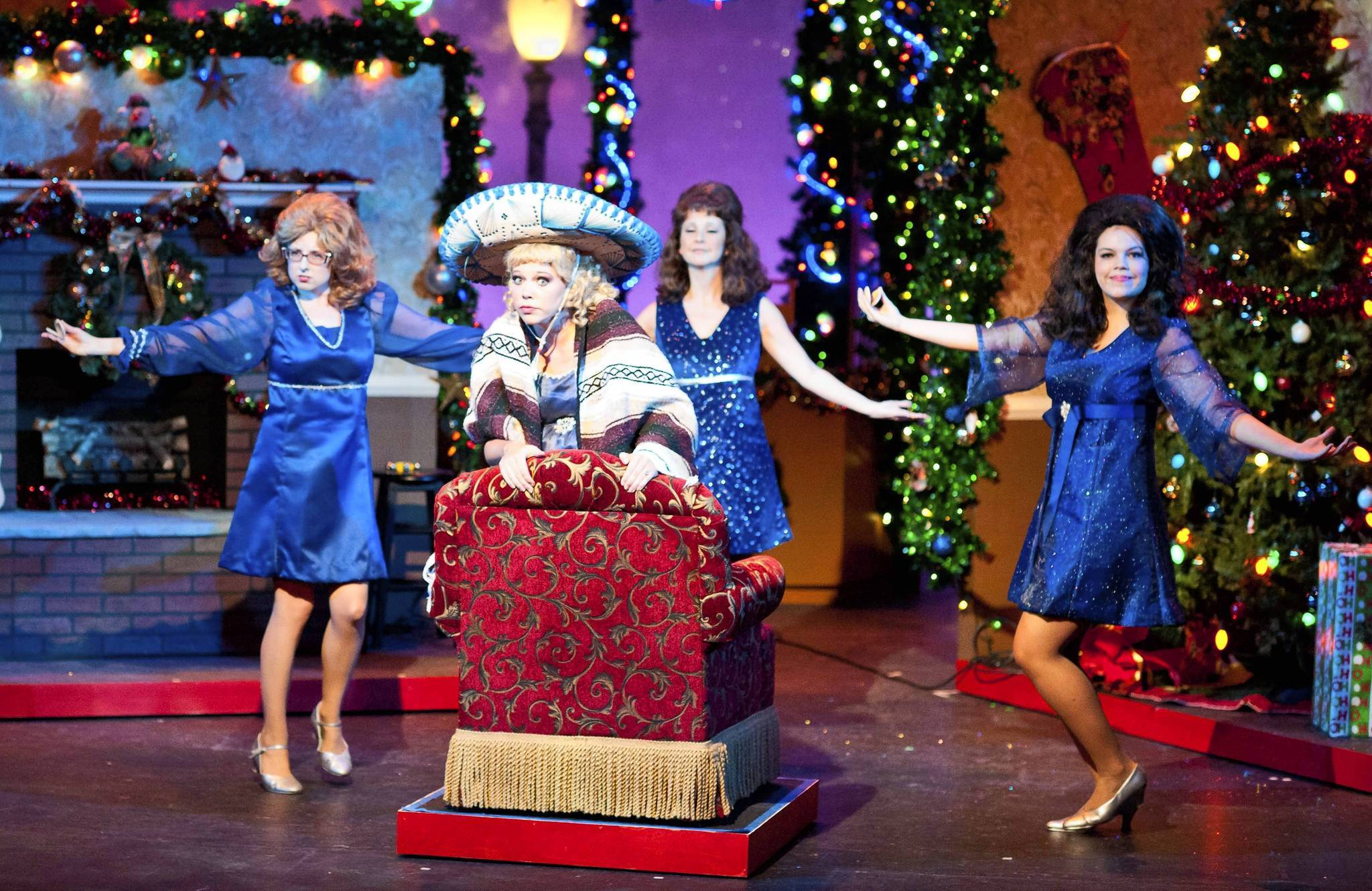 "From left, Jennifer Guhl , Whitney Abell, Laurie Sullivan and Hannah Roman in the The Sonnetag Theatre at the Icehouse production of ""The Winter Wonderettes."""