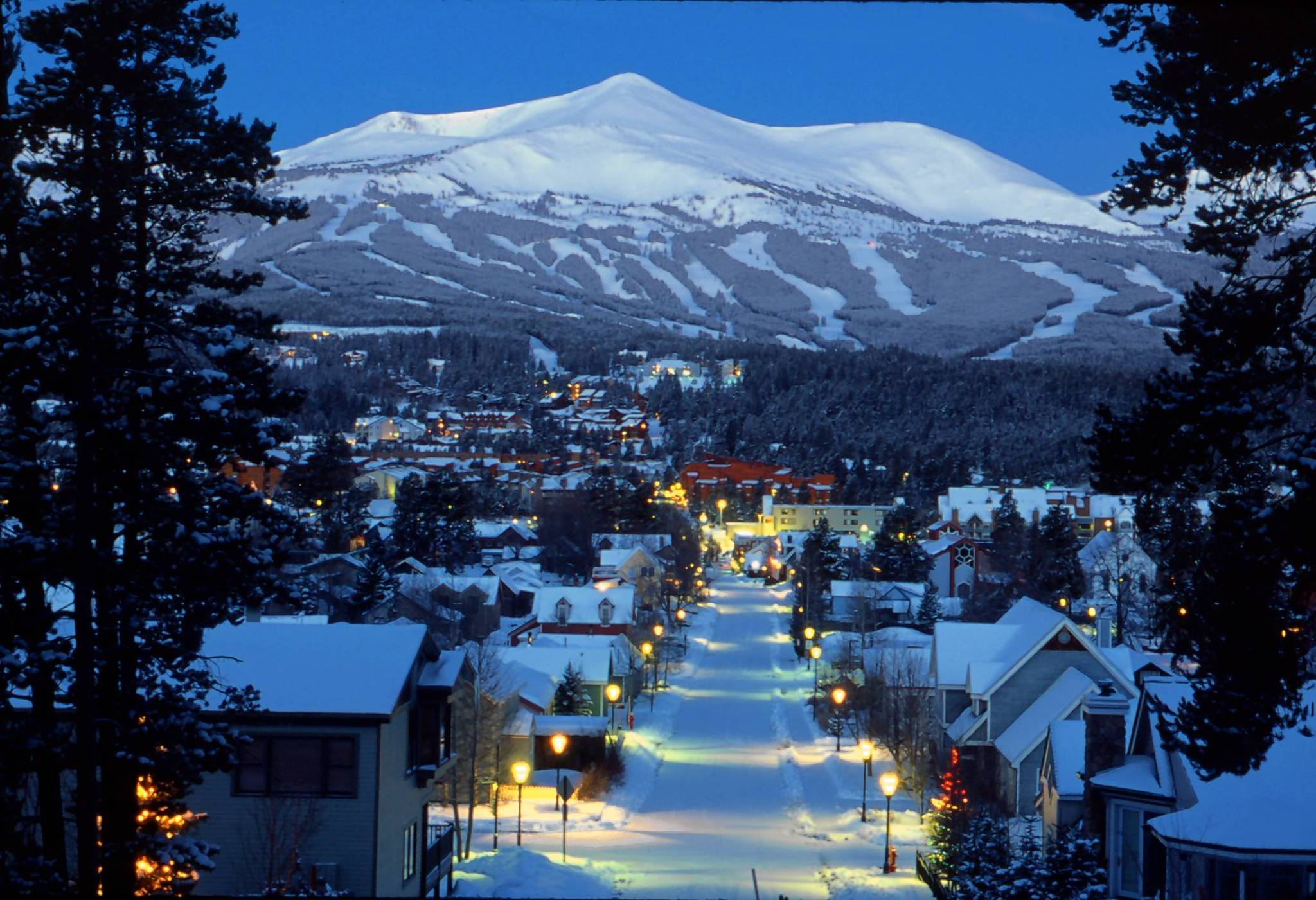 Downtown Breckenridge, Colo., is seen in this Dec. 12, 2002, file photo with the Breckenridge Ski resort in the background.