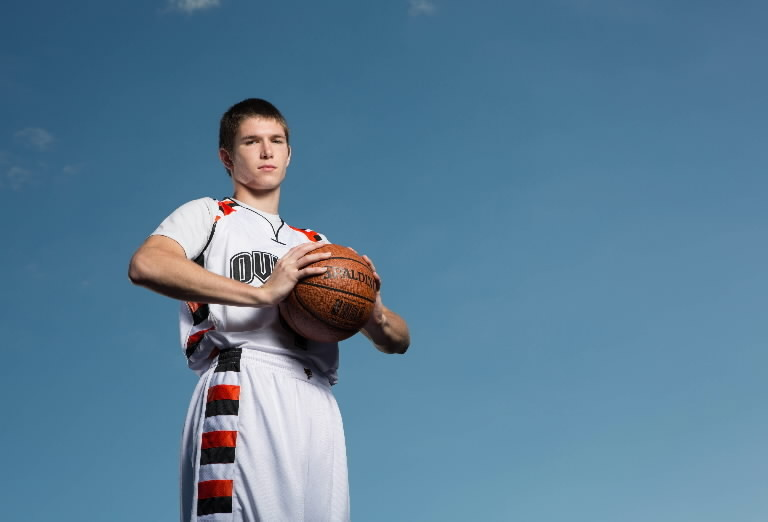Oviedo's Matt Milon had 27 points in a 68-56 win over Orlando University on Monday.  (Hansong Gu/Orlando Sentinel)
