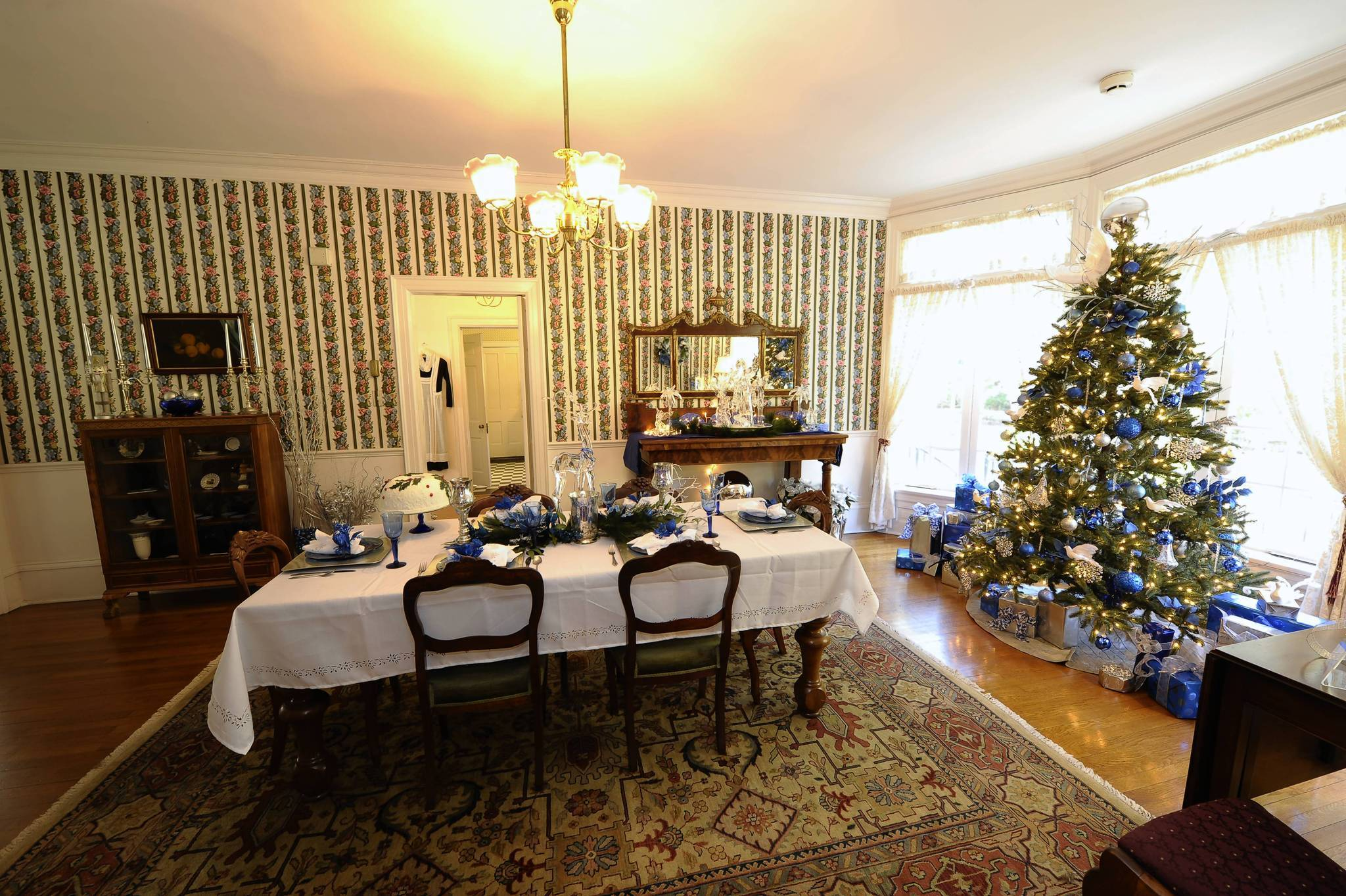 The 11-room Harry P. Leu House will be adorned with Christmas trees, holiday dioramas and festive decorations at Harry P. Leu Gardens in Orlando.