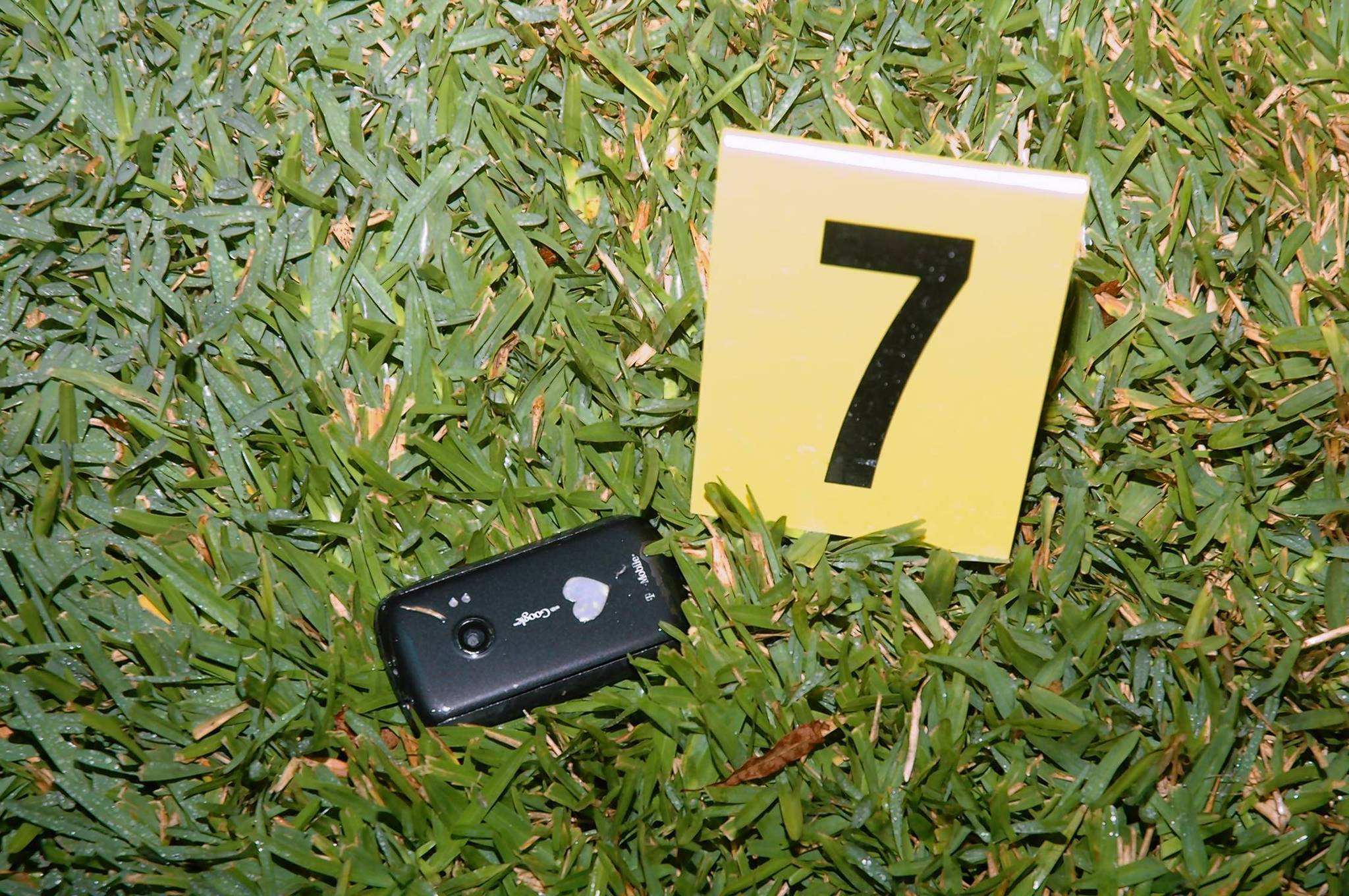 Trayvon Martin's cellphone was found in the grass near where he was shot. (Office of Special Prosecutor Angela Corey)