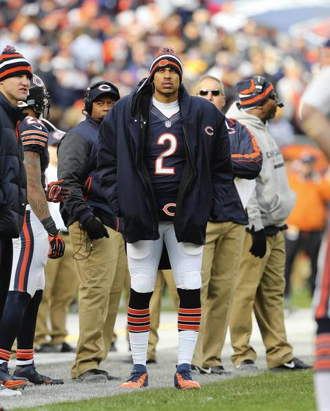 Bears backup quarterback Jason Campbell during the first half.