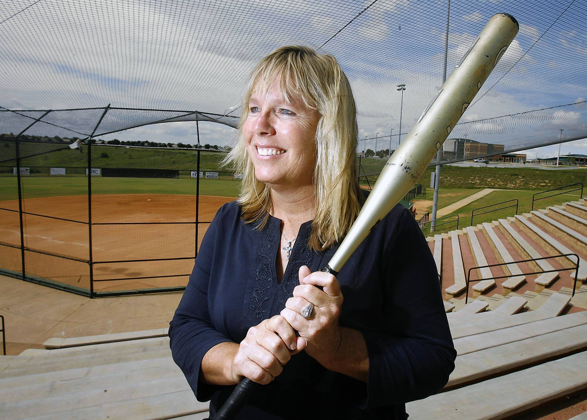 Two-time Olympic gold medalist Dot Richardson is pictured at her softball facility at the National Training Center in Clermont on Tuesday, June 19, 2012. (Stephen M. Dowell/Orlando Sentinel)