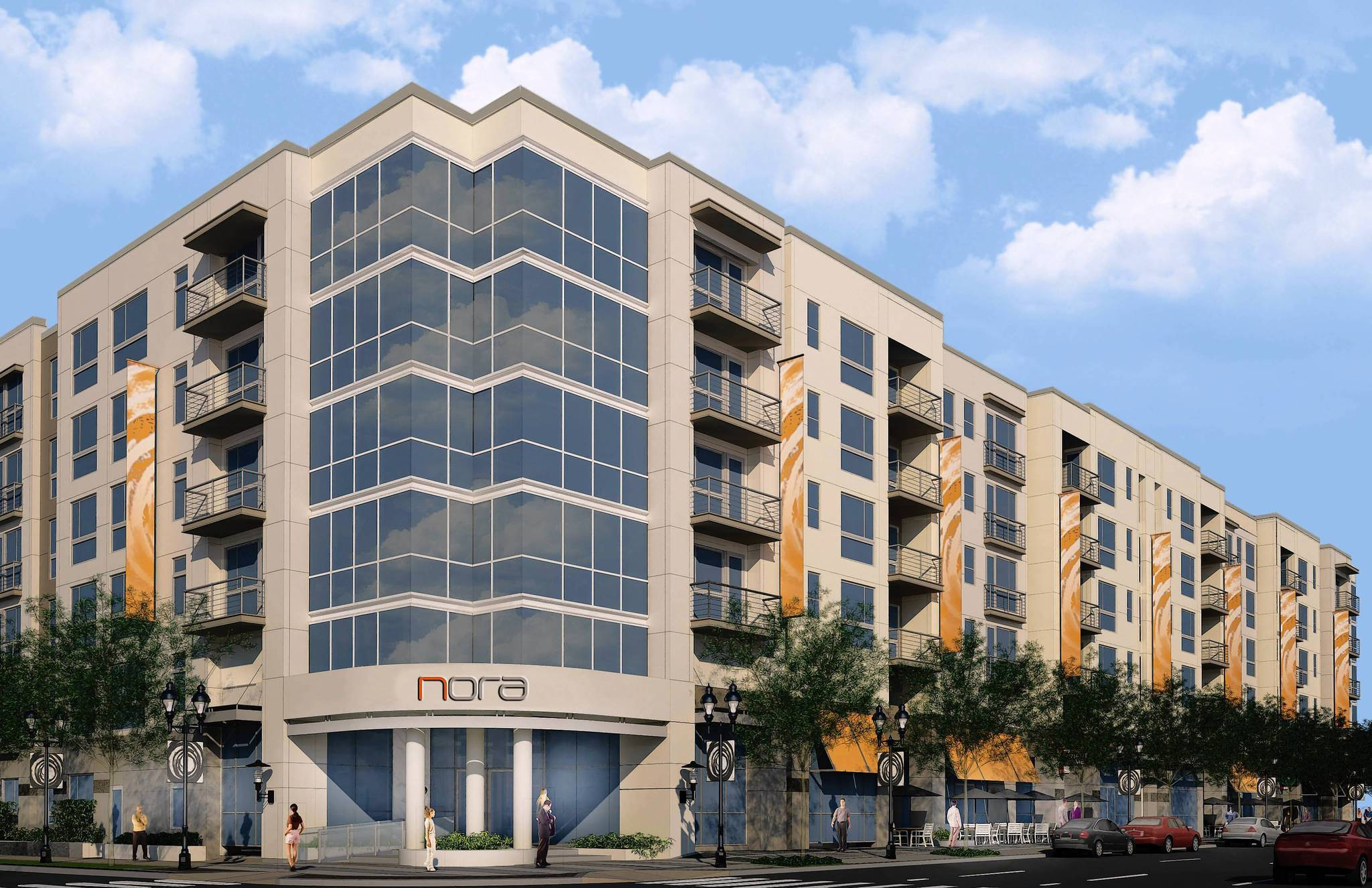 Work is under way on a 246-unit apartment project on North Orange Avenue. Nora, being developed by GDC Properties, is slated to open in spring 2014.