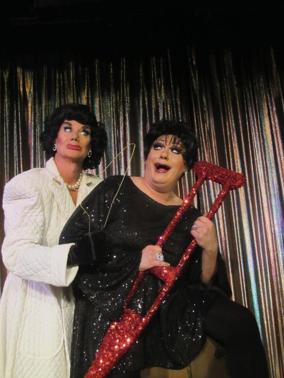 "Joan Crawford (Miss Sammy) and Liza Minnelli (Gidget Galore) are among the celebrities drafted to keep ""A Christmas Carol"" onstage."