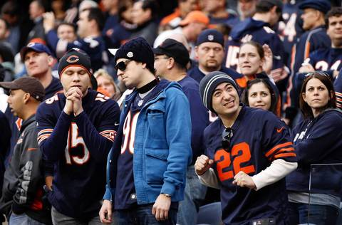 Bears fans react to the replay review in overtime that confirmed the Seahawks touchdown to win the game.