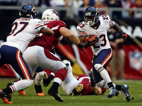 Devin Hester returns a punt against the Cardinals in the first quarter.