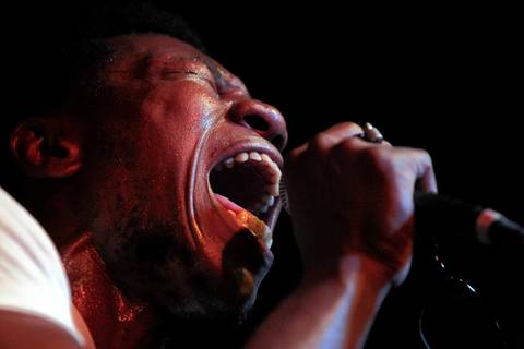 Willis Earl Beal, a 28-year-old South Sider, belts out a song April 19 at The Hideout.