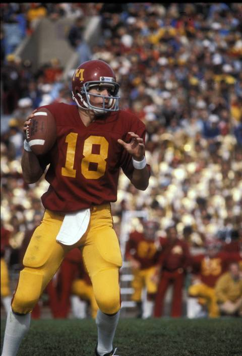 University of Minnesota quarterback Marc Trestman plays for the Gophers in the mid 1970s.
