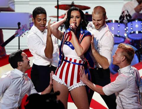 Katy Perry performs during the Kids' Inaugural Concert event at the Washington Convention Center.