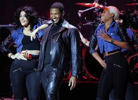 Usher performs during the Kids' Inaugural Concert at the Washington Convention Center.