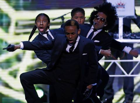 Mindless Behavior performs during the Kids' Inaugural Concert event at the Washington Convention Center.