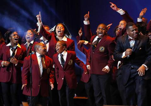 The Soul Children of Chicago perform during the Kids' Inaugural Concert event at the Washington Convention Center.