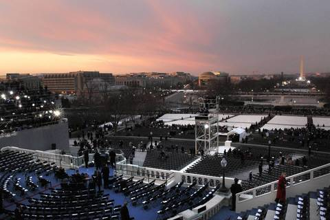 Morning breaks on inauguration day in Washington D.C.