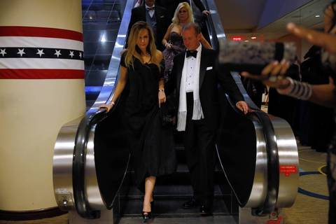 Guests arrive for the All American Ball at the Hyatt Regency in Washington, D.C.