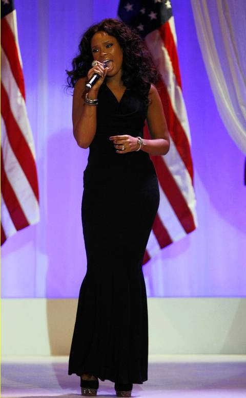 Jennifer Hudson performs at the Commander in Chief's Ball in Washington, D.C.