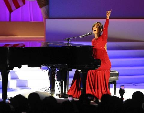Alicia Keys performs at the Inaugural Ball at the Walter E. Washington Convention Center in Washington D.C.