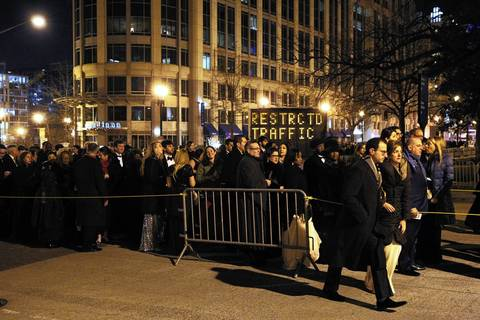 The streets of Washington D.C. were a scene of long lines and confusion outside he Inaugural Ball at the Walter E. Washington Convention Center in Washington D.C.