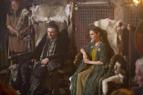 Earl Haraldson (Gabriel Byrne) and his wife Siggy (Jessalyn Gilsig).