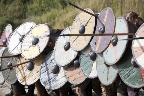 """A battle scene from """"Vikings."""""""