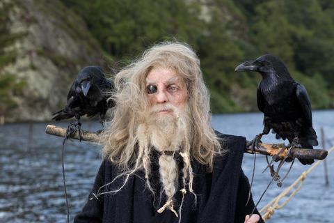 Odin (Eddie Drew) is chief amongst the viking's gods.