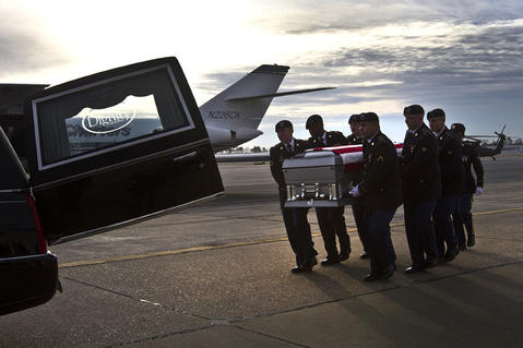 Dignified Transfer of remains of U.S. Army Sgt. David J. Chambers returning him home today to Hampton Va.  The Ft. Eustis Honor Guard unit conducted the Dignified Transfer at Newport News Williamsburg Airport this morning. He was killed in action in Afghanistan, on Jan. 16.