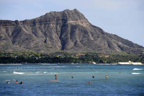 General view of the Diamond Head crater.