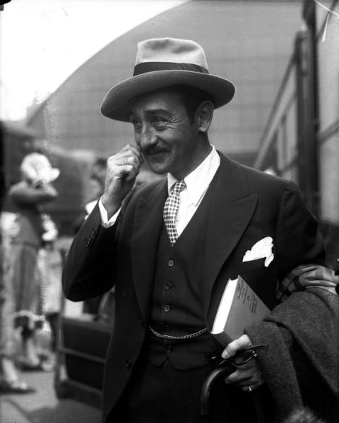 Actor Adolphe Menjou in Chicago, November 13, 1925. Menjou's career spanned both silent films and talkies.