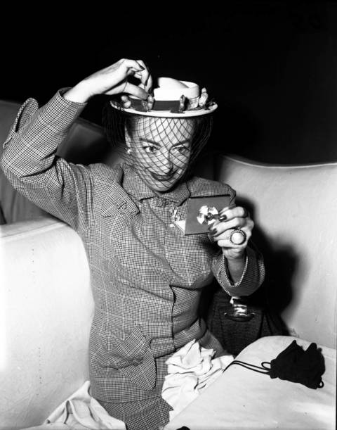 Actress and movie star Joan Crawford at the Pump Room, May 5, 1952.